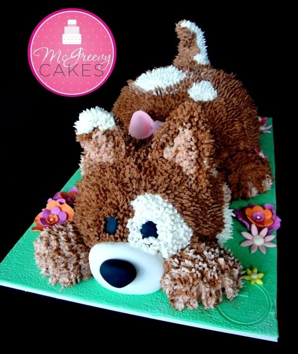 Astounding Birthday Cakes Puppy Cake So Cute For A Puppy Dog Themed Funny Birthday Cards Online Bapapcheapnameinfo