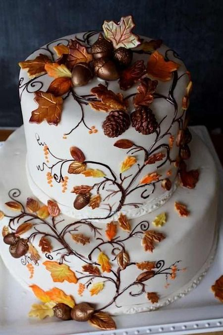 Incredible Birthday Cakes Sunday Sweets Welcomes A Slice Of Fall Cake Funny Birthday Cards Online Alyptdamsfinfo