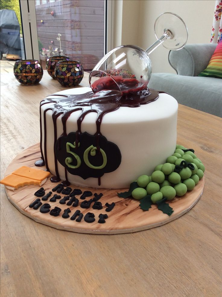 Birthday Cakes Wine Glass Spill Cake