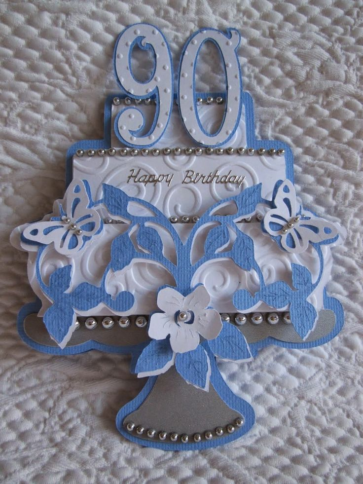 Birthday Card Ideas Cake For 90th