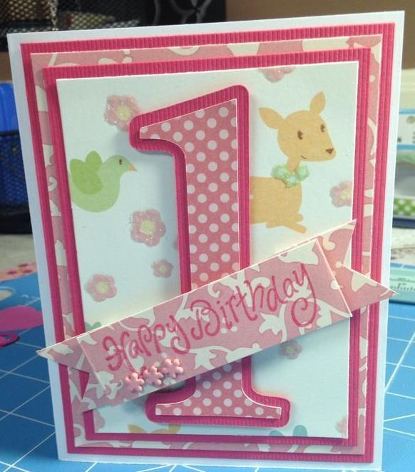 Description For My Granddaughters First Birthday Handmade Card