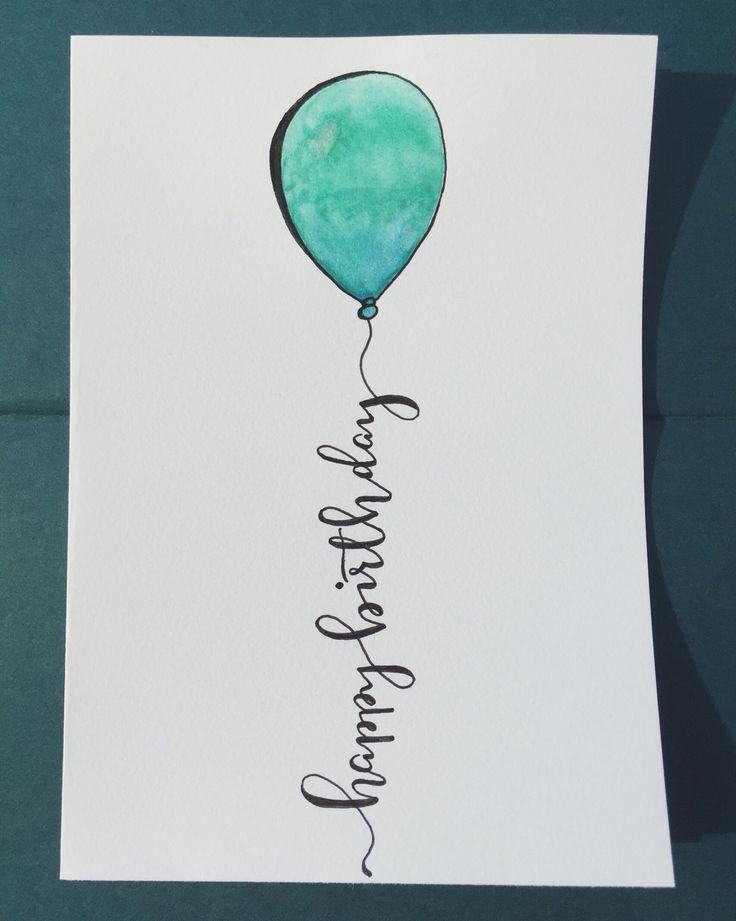 Description Happy Birthday 5x7 Calligraphy
