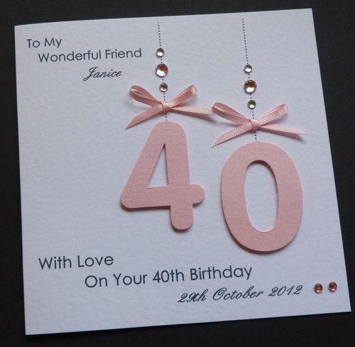 Description Handmade Personalised 30th