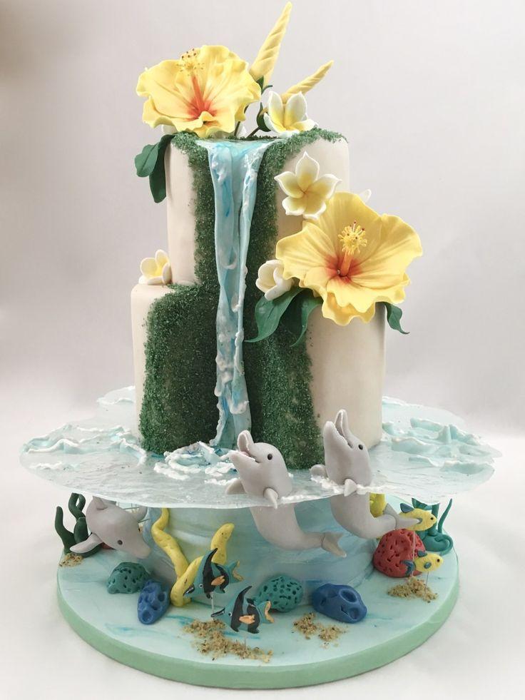 Stupendous Birthday Cakes Hawaii Torte Cake Delfin Meer Dolphin Sea Funny Birthday Cards Online Inifofree Goldxyz