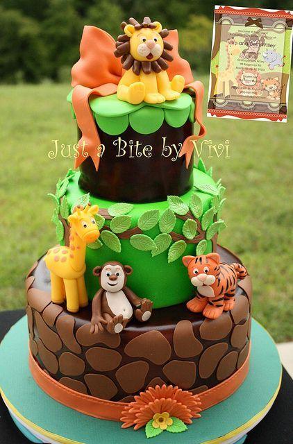 Outstanding Birthday Cakes Jungle Safari And Zoo Cake Ideas Inspirations Funny Birthday Cards Online Amentibdeldamsfinfo