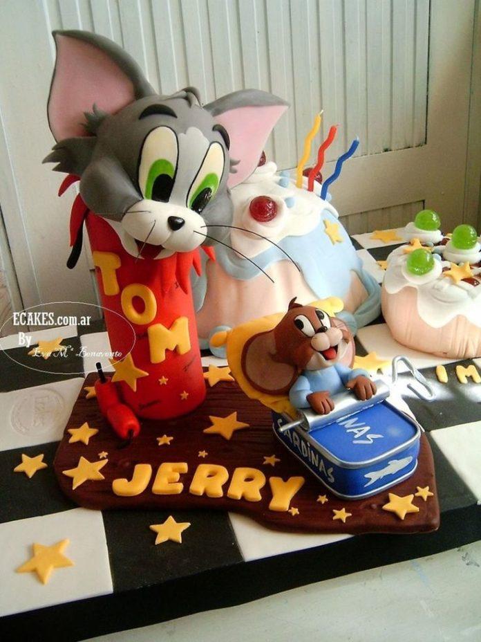 Peachy Birthday Cakes Tom Jerry Cake Yesbirthday Home Of Birthday Birthday Cards Printable Trancafe Filternl