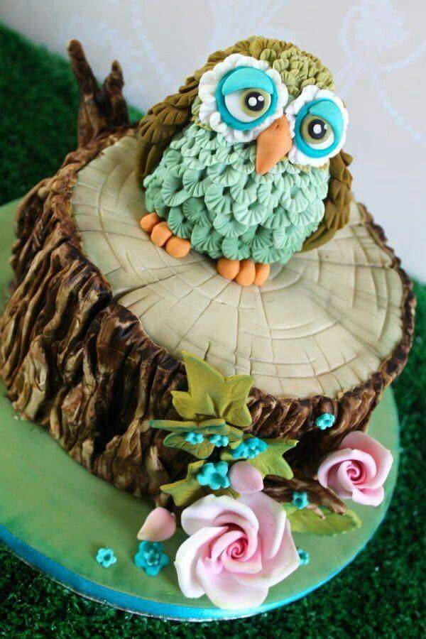 Admirable Birthday Cakes 20 Owl Themed Birthday Cakes We Love Birthday Cards Printable Nowaargucafe Filternl