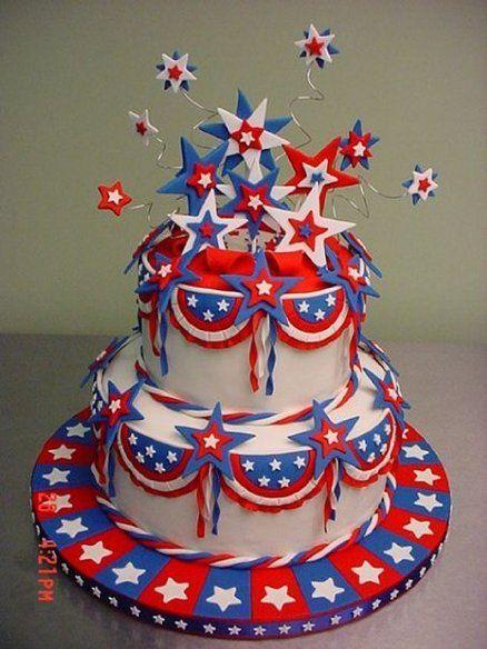 Stupendous Birthday Cakes 4Th Of July Stars Cake Yesbirthday Home Of Funny Birthday Cards Online Necthendildamsfinfo