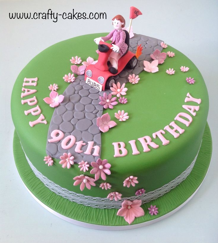 Description 90th Birthday Cake