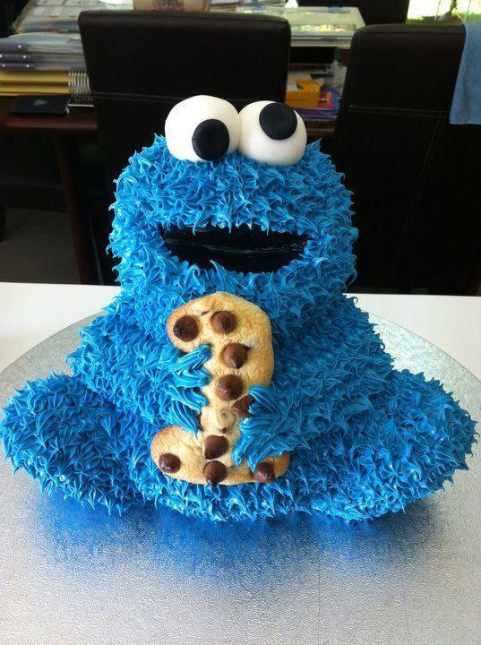 Awe Inspiring Birthday Cakes All Cookie Monster Birthday Party Fbcdn Sphotos Funny Birthday Cards Online Inifofree Goldxyz