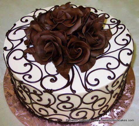 Miraculous Birthday Cakes An Elegant Dessert For Chocolate Lovers Personalised Birthday Cards Veneteletsinfo