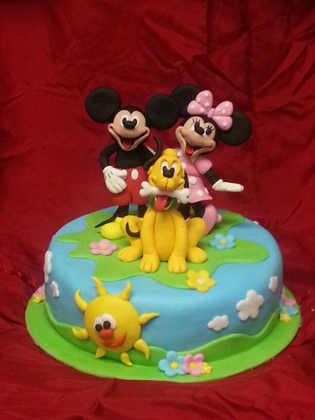 Peachy Birthday Cakes Cake Pluto Mikey E Minnie Mouse Yesbirthday Funny Birthday Cards Online Amentibdeldamsfinfo