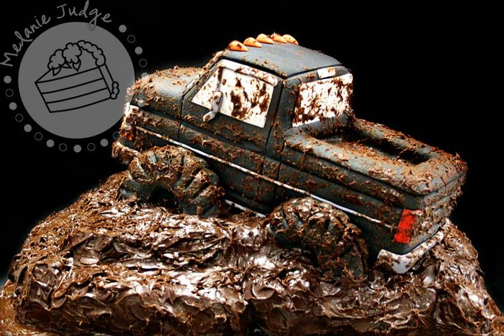 Outstanding Birthday Cakes Cake Walk Mudding Truck Cake This Would Be An Funny Birthday Cards Online Aboleapandamsfinfo
