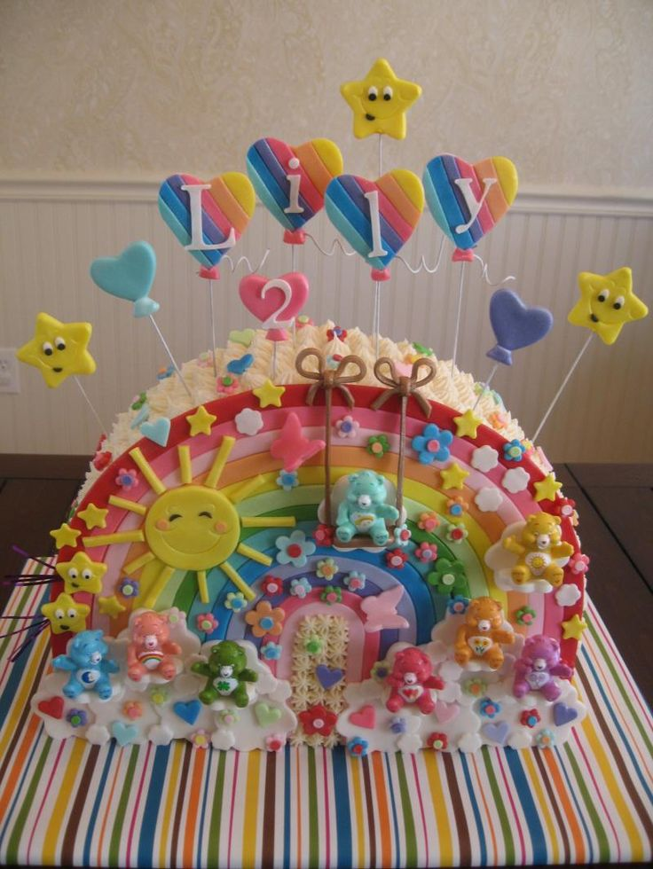 Stupendous Birthday Cakes Care Bear Cake I Could Never Ever Never Make Funny Birthday Cards Online Alyptdamsfinfo