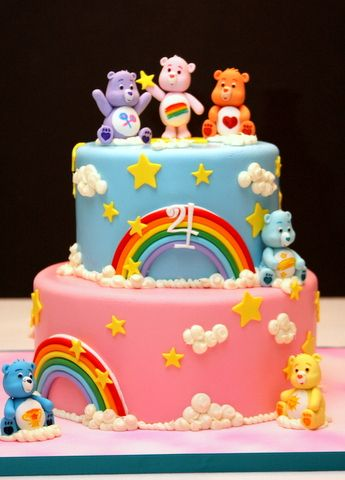 Fantastic Birthday Cakes Care Bears Cake Yesbirthday Home Of Funny Birthday Cards Online Alyptdamsfinfo