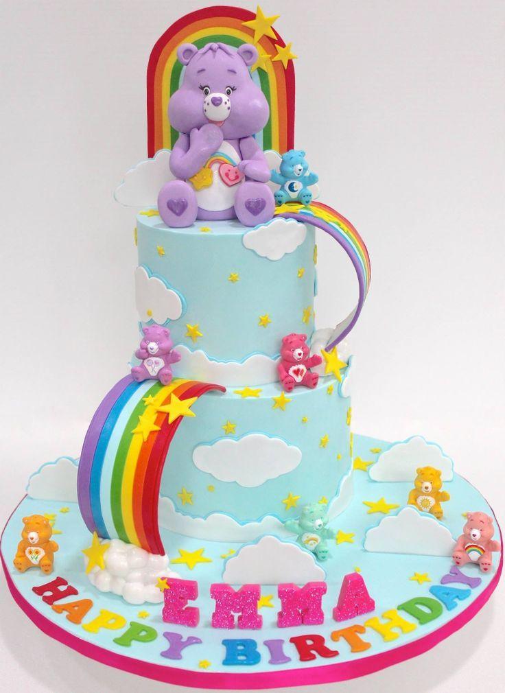 Enjoyable Birthday Cakes Carebear Cake Elayna27 Can You Make This For Funny Birthday Cards Online Alyptdamsfinfo