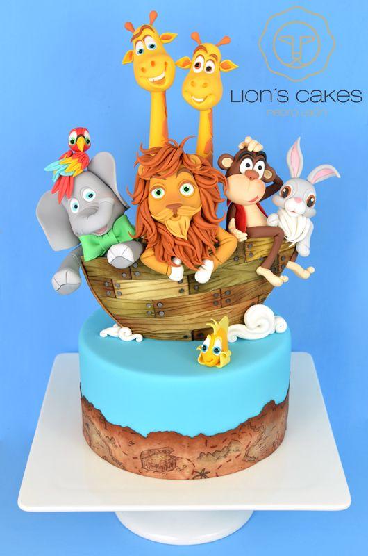 Admirable Birthday Cakes El Arca Del Leon En Portada Del Cake Masters Birthday Cards Printable Benkemecafe Filternl