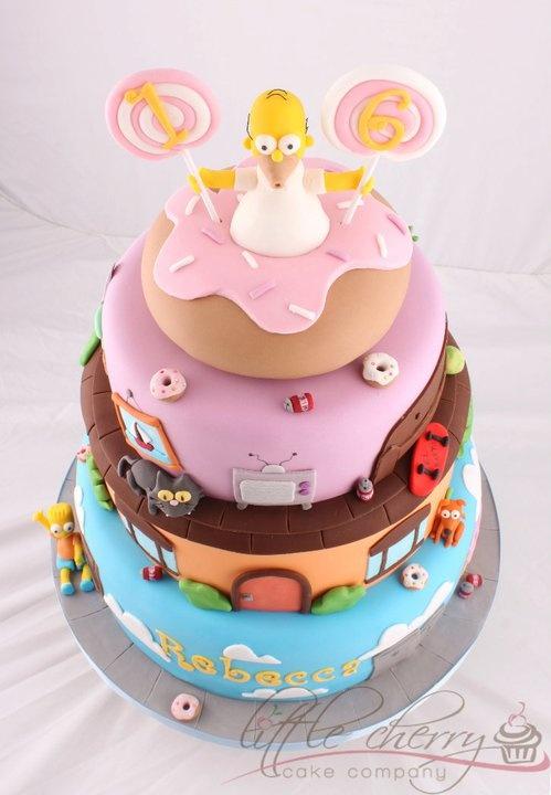 Pleasant Birthday Cakes Fantasticos Bolos Decorados Dos Simpsons Birthday Cards Printable Inklcafe Filternl