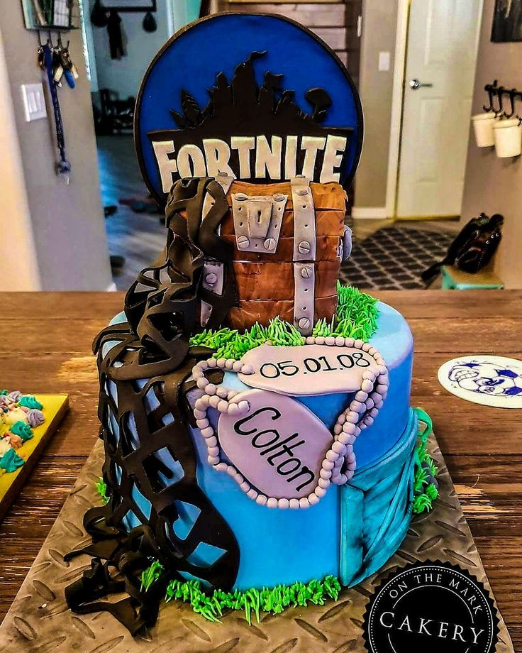Strange Birthday Cakes Fortnite Inspired Birthday Cake Perfect For Your Funny Birthday Cards Online Alyptdamsfinfo