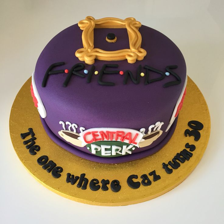 Remarkable Birthday Cakes Friends Tv Show Theme Cake I Need This For My Funny Birthday Cards Online Chimdamsfinfo