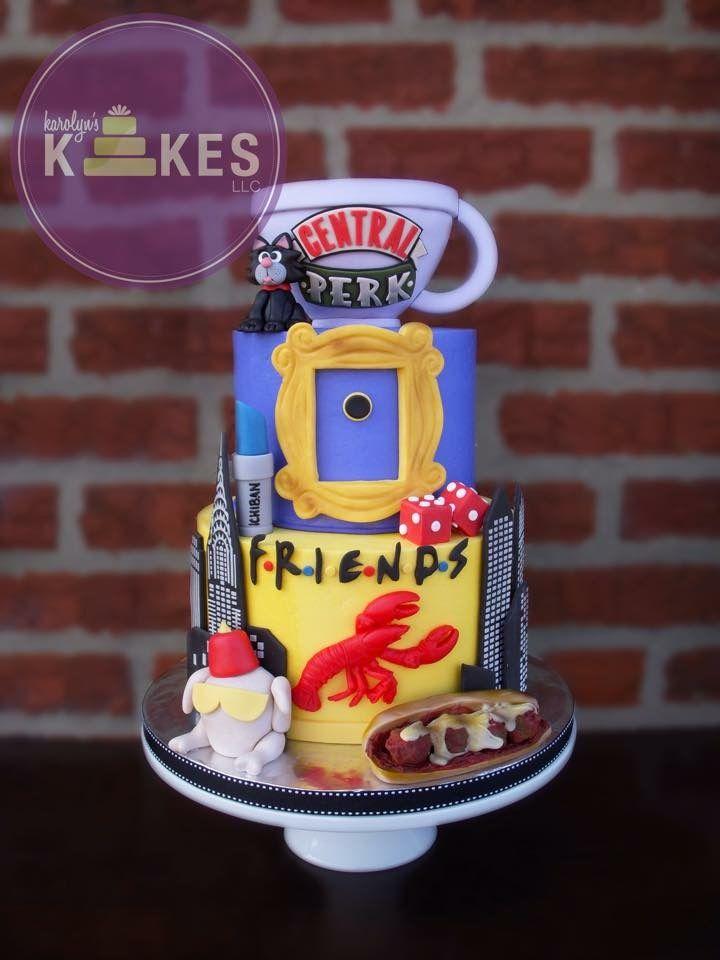 Awe Inspiring Birthday Cakes Friends Cake Tarta De La Mitica Serie Friends Funny Birthday Cards Online Chimdamsfinfo