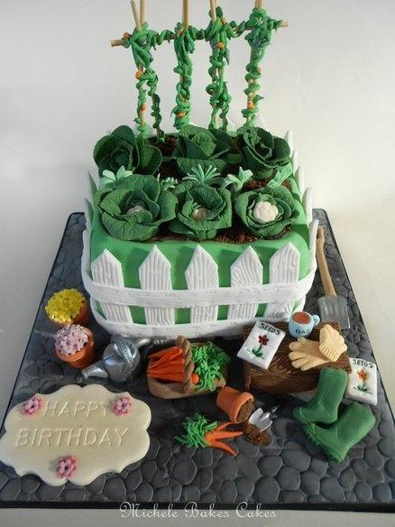 Surprising Birthday Cakes Gardening Cake For All Your Cake Decorating Funny Birthday Cards Online Ioscodamsfinfo