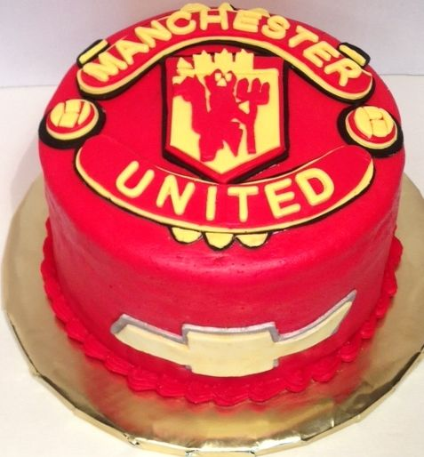 Description Grooms Cake Manchester United Soccer By Posh Parties Paula
