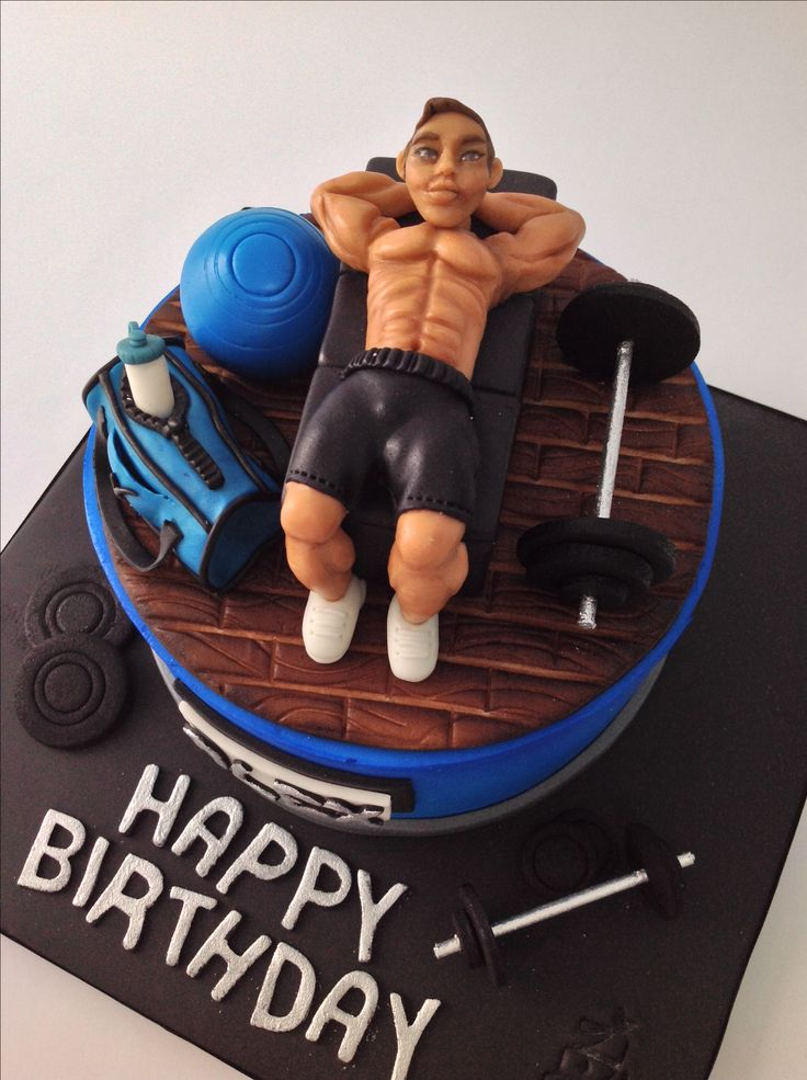 Description Gym Themed Cake