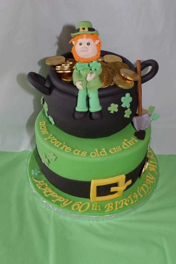 Incredible Birthday Cakes Happy 60Th Irish Themed Cake For An Irishman Personalised Birthday Cards Veneteletsinfo