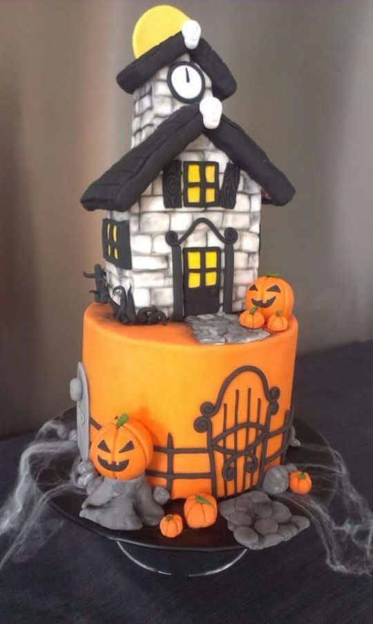 Awesome Birthday Cakes Haunted House Halloween Yesbirthday Home Of Personalised Birthday Cards Epsylily Jamesorg