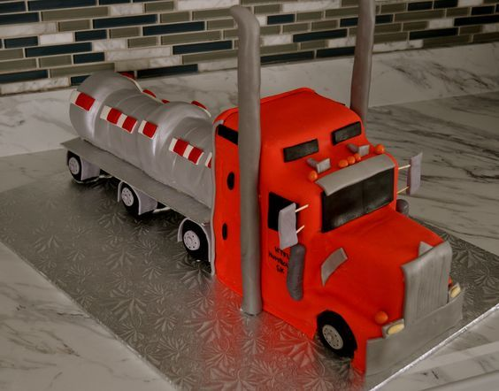 Pleasant Birthday Cakes Image Result For Semi Truck Cake Yesbirthday Funny Birthday Cards Online Alyptdamsfinfo