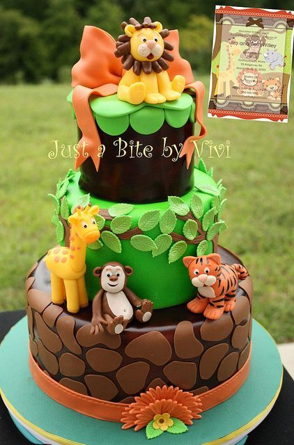 Birthday Cakes Jungle Safari And Zoo Cake Ideas Inspirations