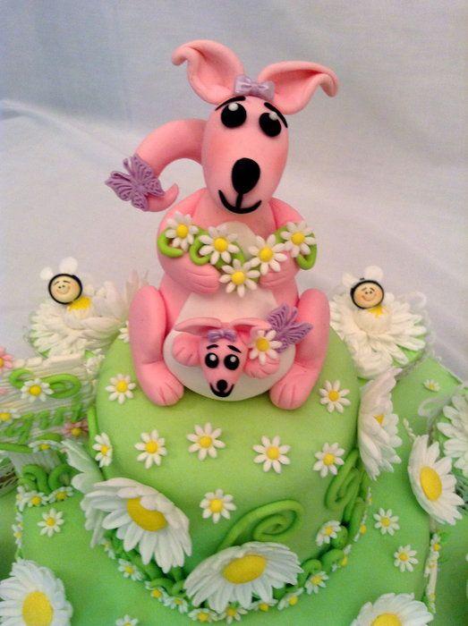 Superb Birthday Cakes Kangaroo Koala Bear Daisies And Bees Funny Birthday Cards Online Hetedamsfinfo