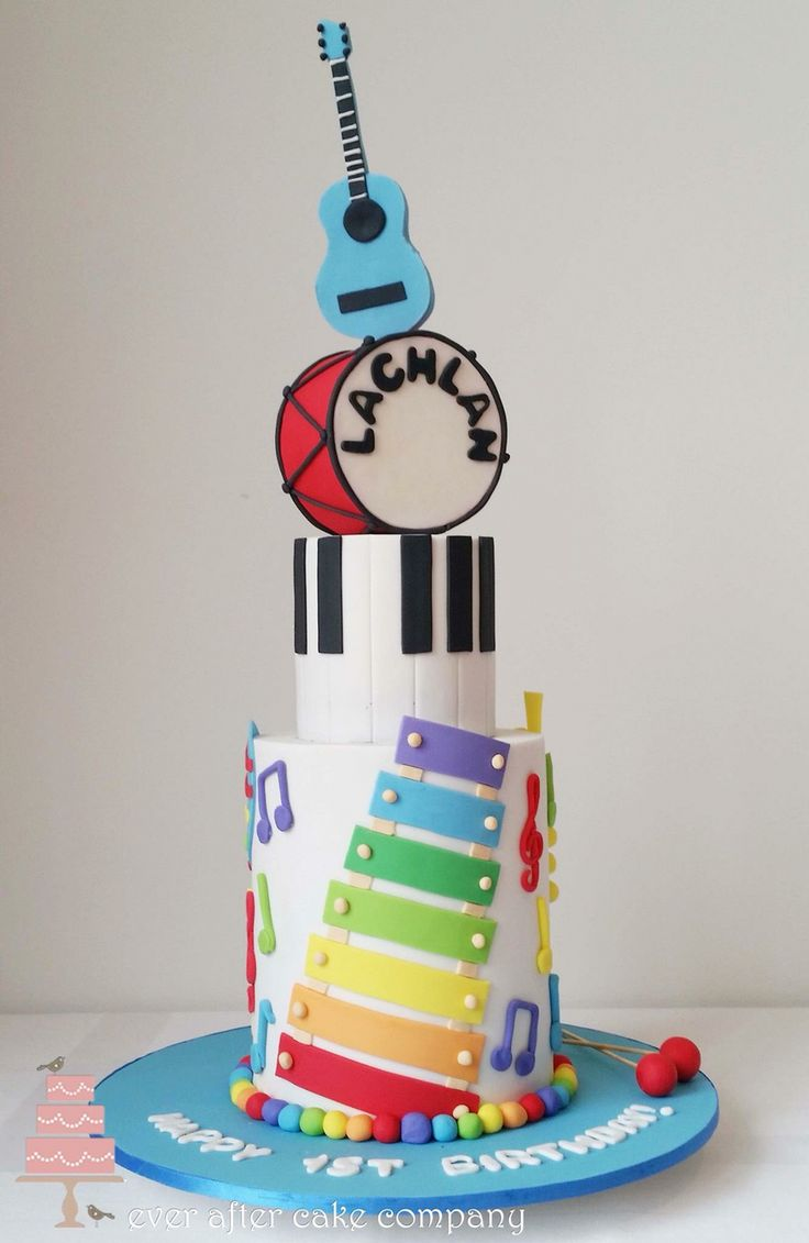 Description Kids Musical Instruments Cake