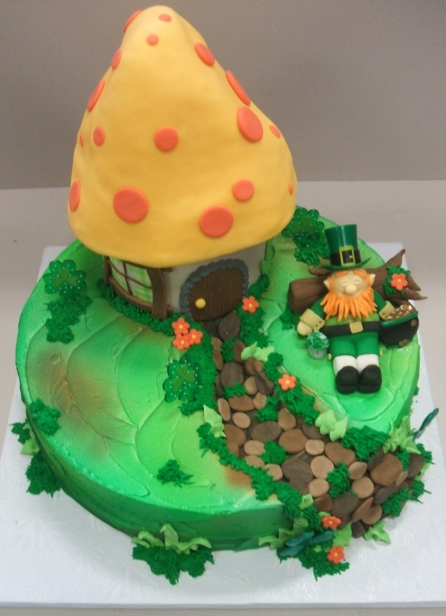 Awesome Birthday Cakes Leprechaun Hut Cake For St Patricks Day Shhhhhh Personalised Birthday Cards Cominlily Jamesorg