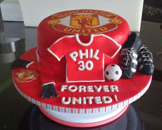 Superb Birthday Cakes Manchester United Chocolate Cake Yesbirthday Birthday Cards Printable Nowaargucafe Filternl