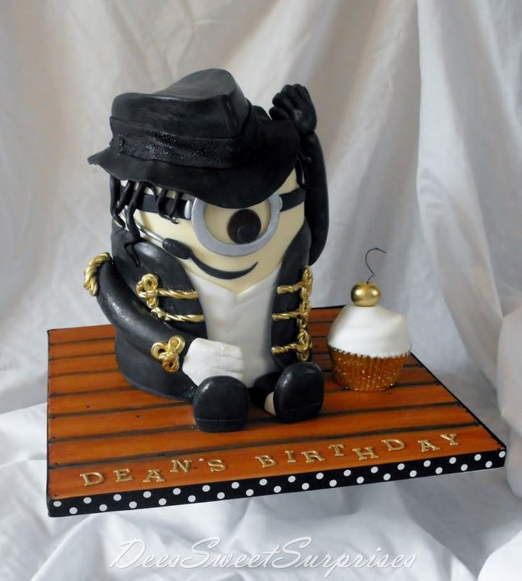 Tremendous Birthday Cakes Michael Jackson Minion Cake I Think It Is Really Personalised Birthday Cards Cominlily Jamesorg