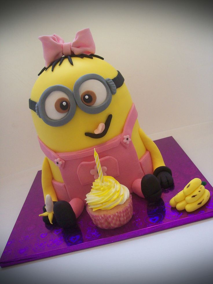 Outstanding Birthday Cakes Minion Birthday Cakes For Girls Yesbirthday Funny Birthday Cards Online Sheoxdamsfinfo