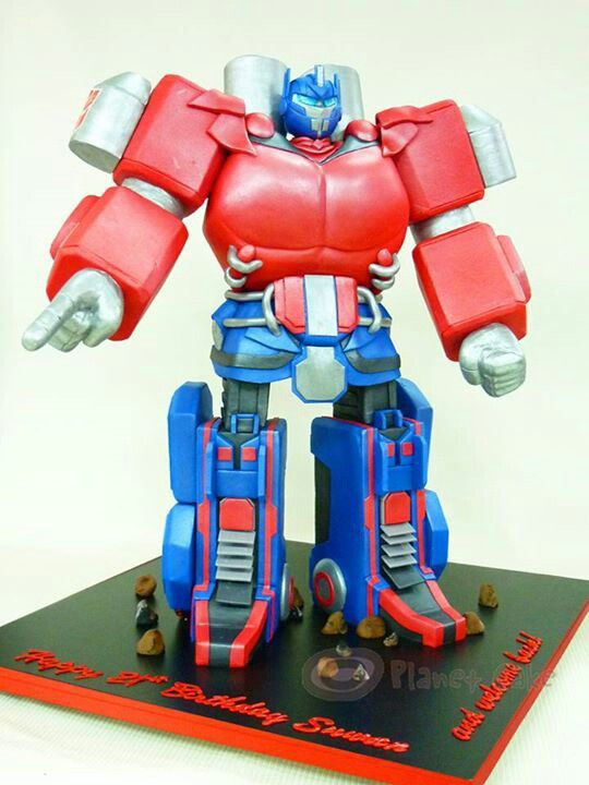 Tremendous Birthday Cakes Optimus Prime Legs And Body Are All Cake Wow Personalised Birthday Cards Paralily Jamesorg