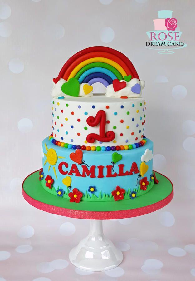 Description Rainbow Birthday Cake