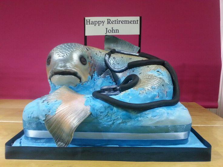Astounding Birthday Cakes Salmon Cake For A Doctor Yesbirthday Home Of Birthday Cards Printable Opercafe Filternl