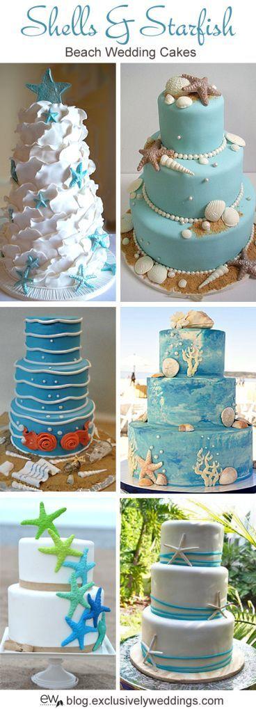 Fabulous Birthday Cakes Shells And Starfish Beach Wedding Cake Read More Personalised Birthday Cards Akebfashionlily Jamesorg