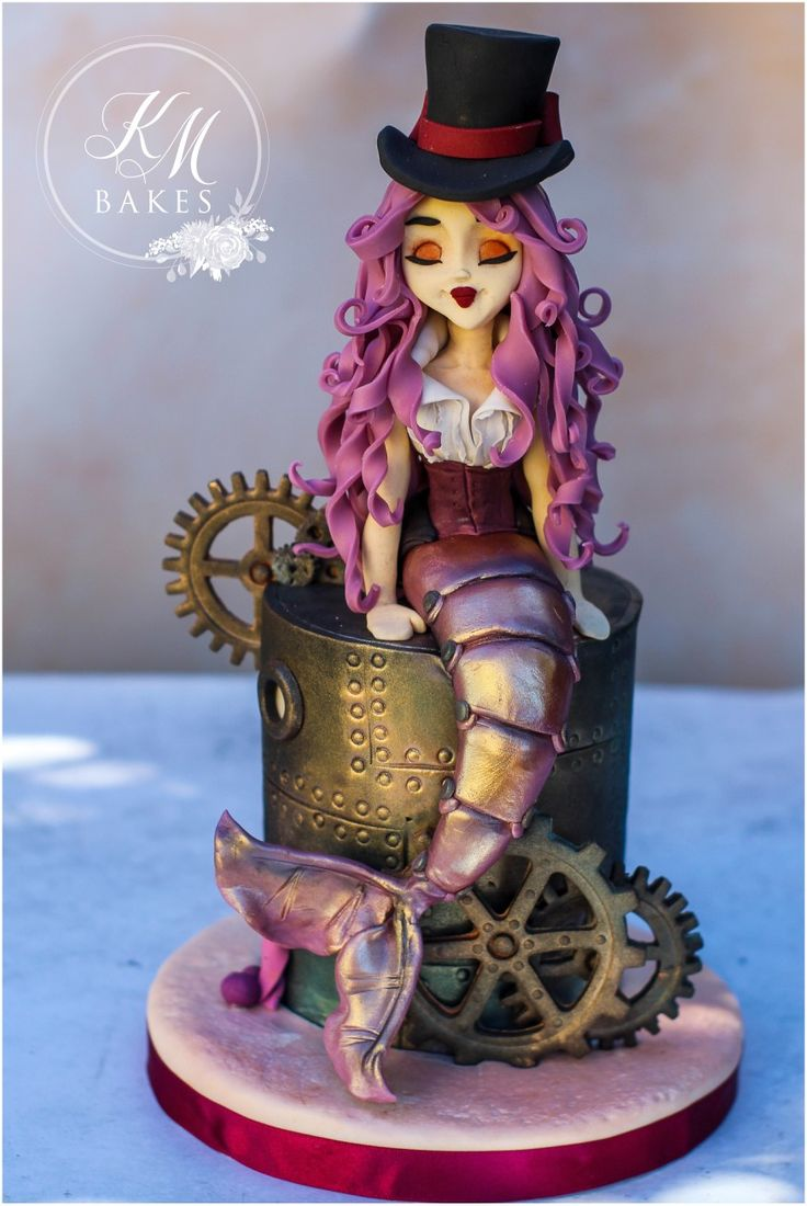 Incredible Birthday Cakes Steam Punk Mermaid Zoe Fancy Cakes Course Funny Birthday Cards Online Elaedamsfinfo