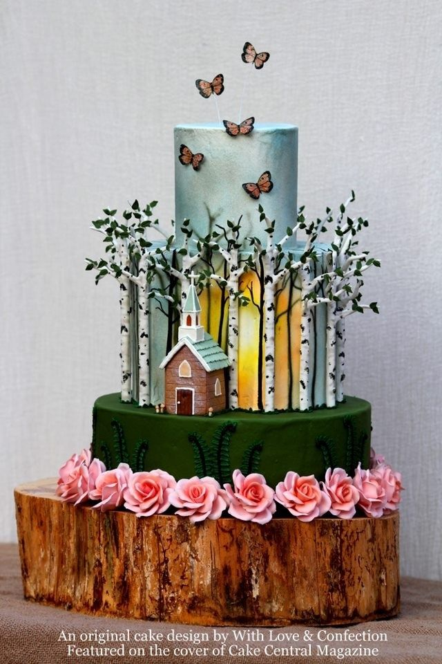 Super Birthday Cakes Such A Fun Whimsical Woodsy Themed Wedding Cake Funny Birthday Cards Online Alyptdamsfinfo