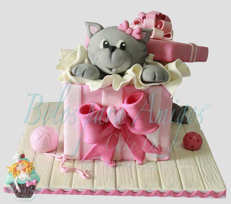 Tremendous Birthday Cakes The Kitty By Bolos Para Amigos By Tania Maroco Funny Birthday Cards Online Necthendildamsfinfo