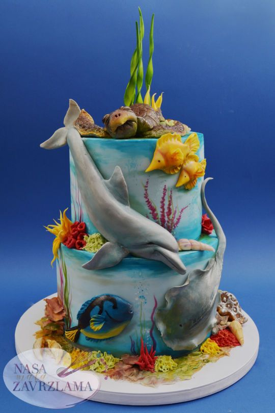 Remarkable Birthday Cakes Under The Sea Cake Yesbirthday Home Of Funny Birthday Cards Online Eattedamsfinfo