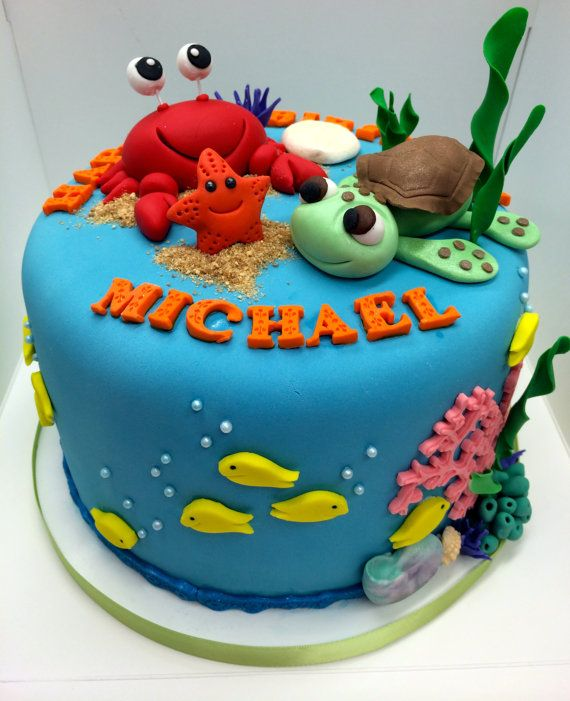 Groovy Birthday Cakes Under The Sea Cake For All Your Cake Decorating Funny Birthday Cards Online Overcheapnameinfo