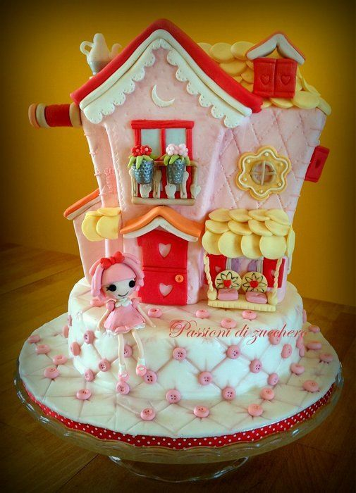Marvelous Birthday Cakes Lalaloopsy House Cake Yesbirthday Home Of Personalised Birthday Cards Rectzonderlifede