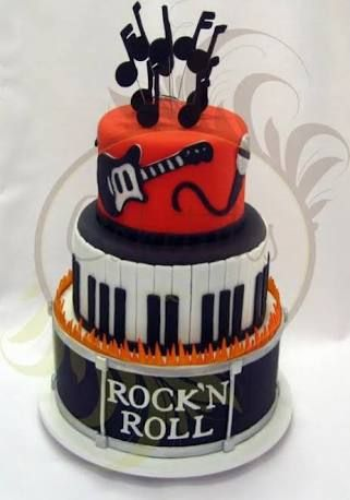 Fantastic Birthday Cakes Rock And Roll Cakes Recherche Google Personalised Birthday Cards Vishlily Jamesorg