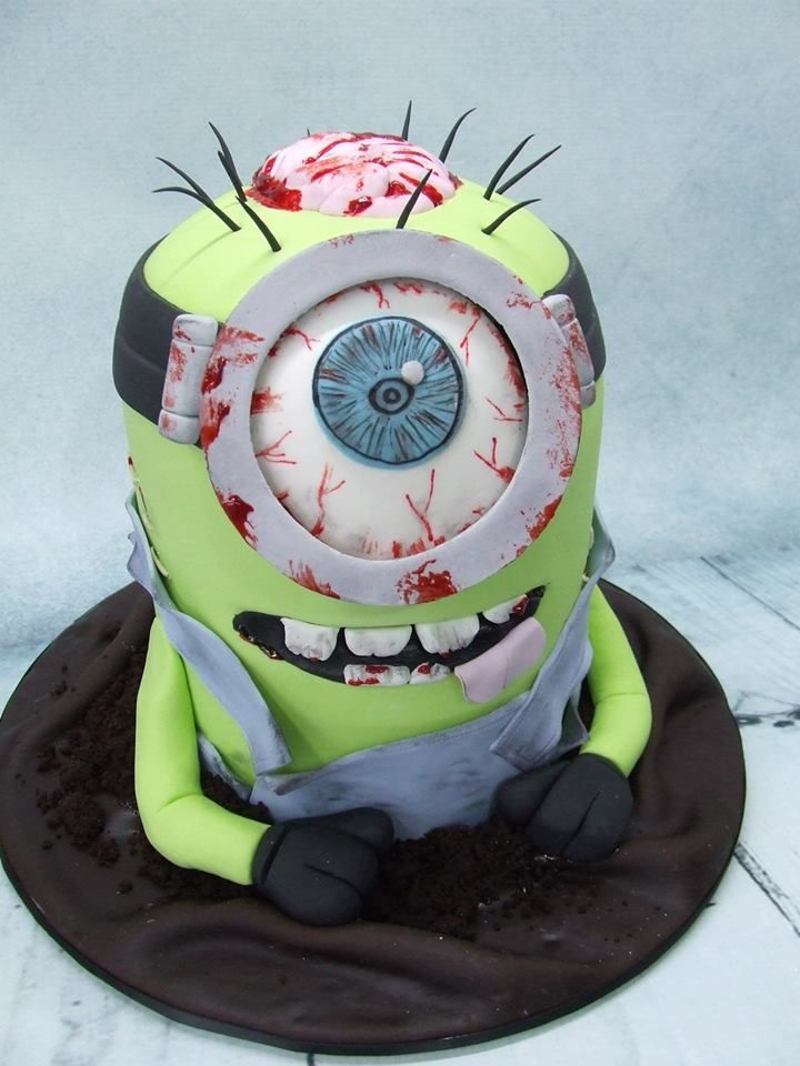Magnificent Birthday Cakes Zombie Minion Facebook Com Yesbirthday Funny Birthday Cards Online Elaedamsfinfo